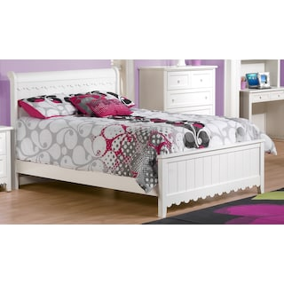 Isabella White Twin Bed - White