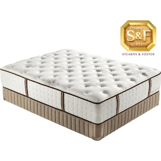 "[Estate Collection ""S"" Series Luxury Firm Queen Mattress/Boxspring Set]"