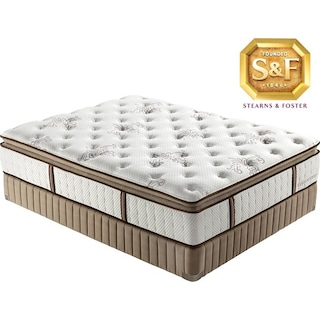 [Estate  M  Luxury Firm Euro Pillow Top Queen Mattress/Boxspring Set]