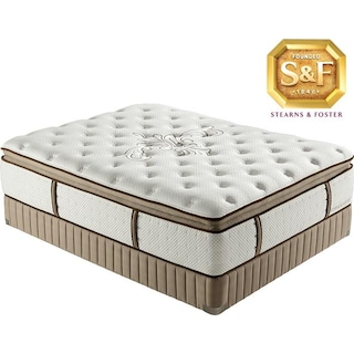 "[Luxury Estate ""N"" Series Luxury Firm Pillow Top Queen Mattress/Boxspring Set]"