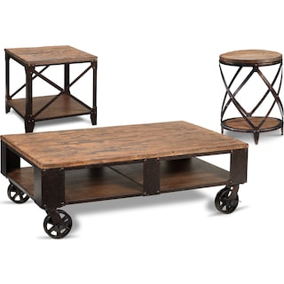 Antiquity Coffee Table & Two End Tables Set