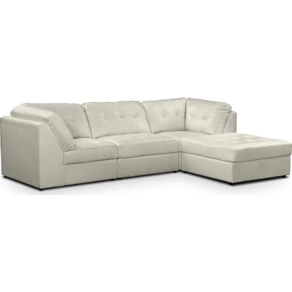 Living Room Furniture - Largo White 4 Pc. Sectional