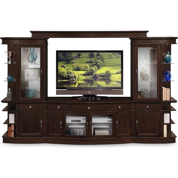 Entertainment Furniture - Greenbriar 4 Pc. Entertainment Wall Unit