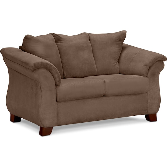 Living Room Furniture - Perry Taupe Loveseat