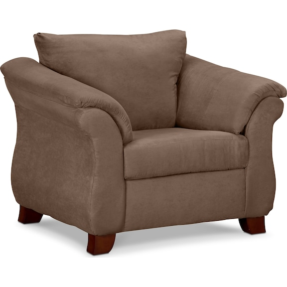 Living Room Furniture - Perry Taupe Chair