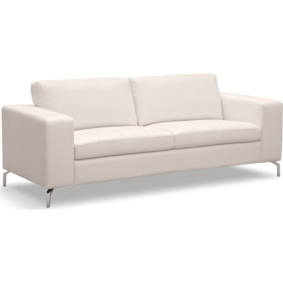 Living Room Furniture - Mirage White Sofa