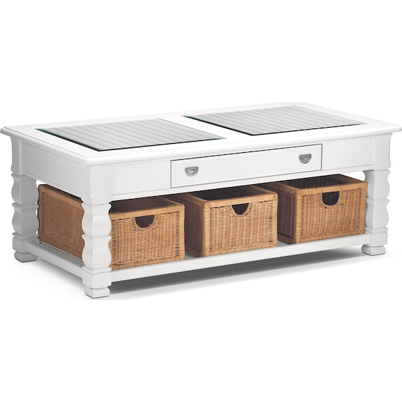 Accent and Occasional Furniture - Magnolia White Cocktail Table