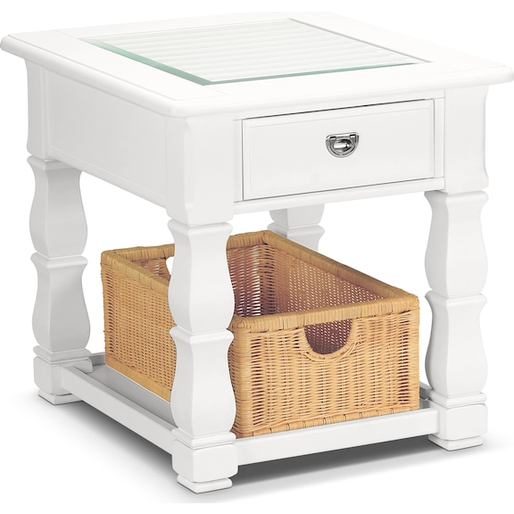 Accent and Occasional Furniture - Magnolia White End Table