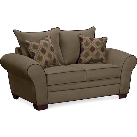 Living Room Furniture - Strauss Olive Loveseat