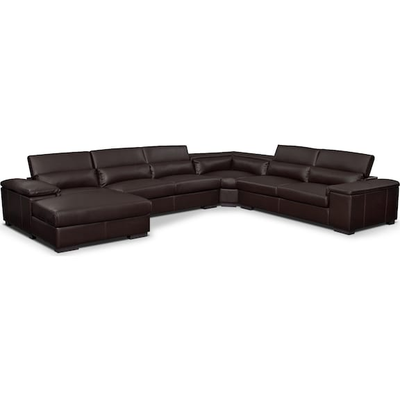 Living Room Furniture - Carmel Godiva 4 Pc. Sectional (Reverse)