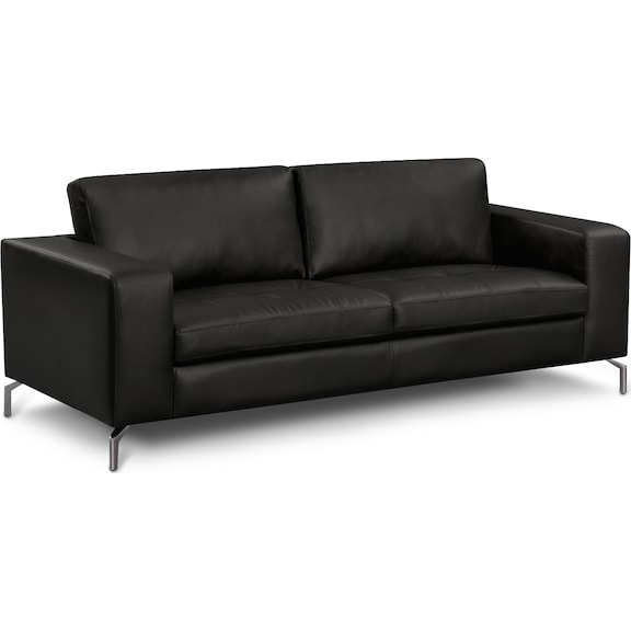 Living Room Furniture - Mirage Black Sofa