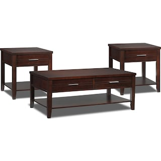 Odette 3-Piece Table Set - Espresso