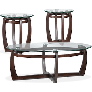 Persimmon 3-Piece Table Set - Espresso
