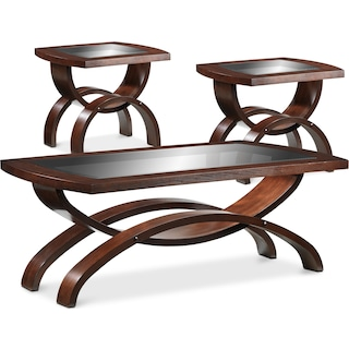 Ostara Coffee Table & Two End Tables Set