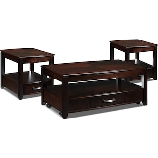 Maxine 3 Pc. Table Set - Espresso