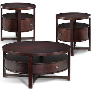Octavia Coffee Table & Two End Tables Set