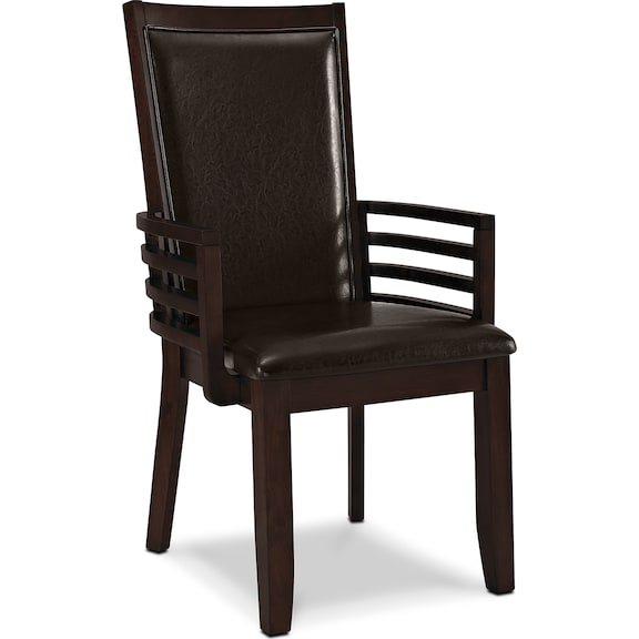 Dining Room Furniture - Costa Brown Arm Chair