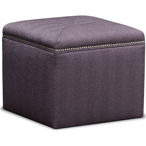 Living Room Furniture - Caterina Cube Ottoman
