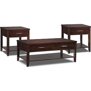 Odette 3-Piece Table Set w/Lift-Top Coffee Table - Espresso