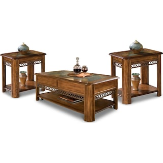 Alder Coffee Table & Two End Tables Package