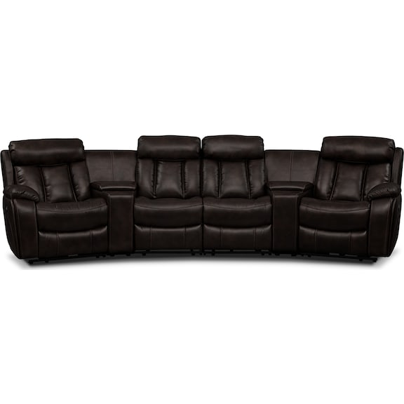 Living Room Furniture - Remington 6 Pc. Power Reclining Sectional (Alternate II)