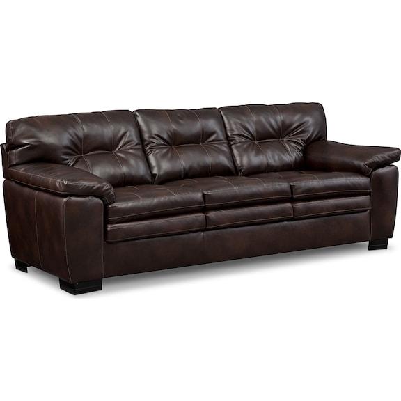 Living Room Furniture - Revere Brown Sofa