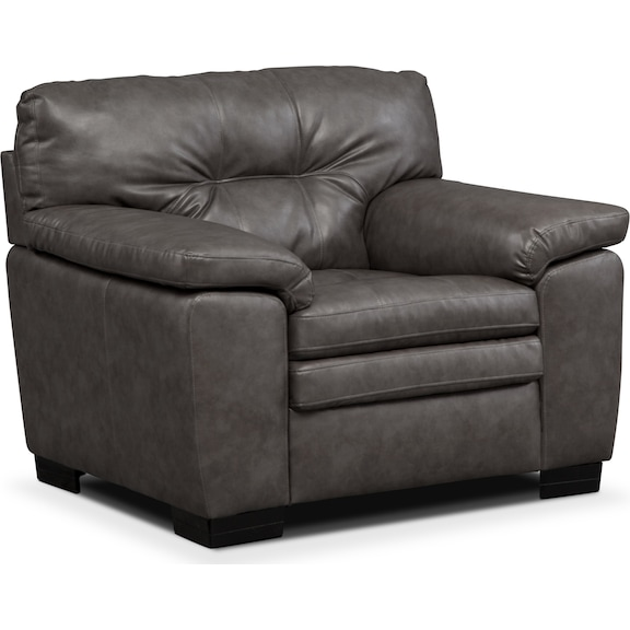 Living Room Furniture - Revere Gray Chair