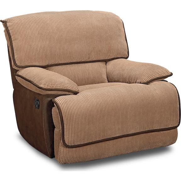 Living Room Furniture - Putnam Camel Glider Recliner