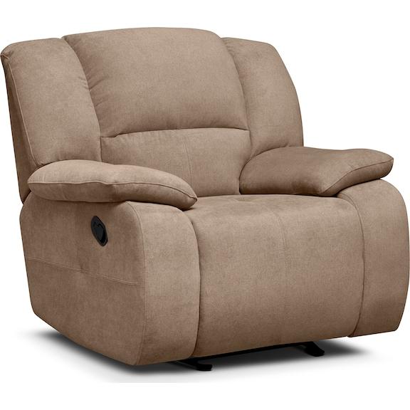 Living Room Furniture - Fortuna Beige Glider Recliner