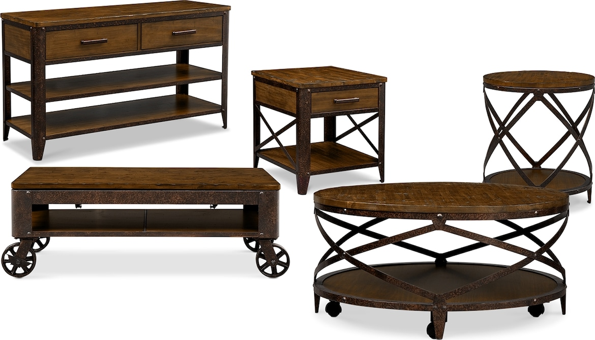 Accent and Occasional Furniture - The Erie Collection - Lift-Top Cocktail Table