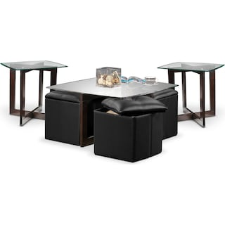 Bexley 3 Pc. Table Set - Chocolate, Black