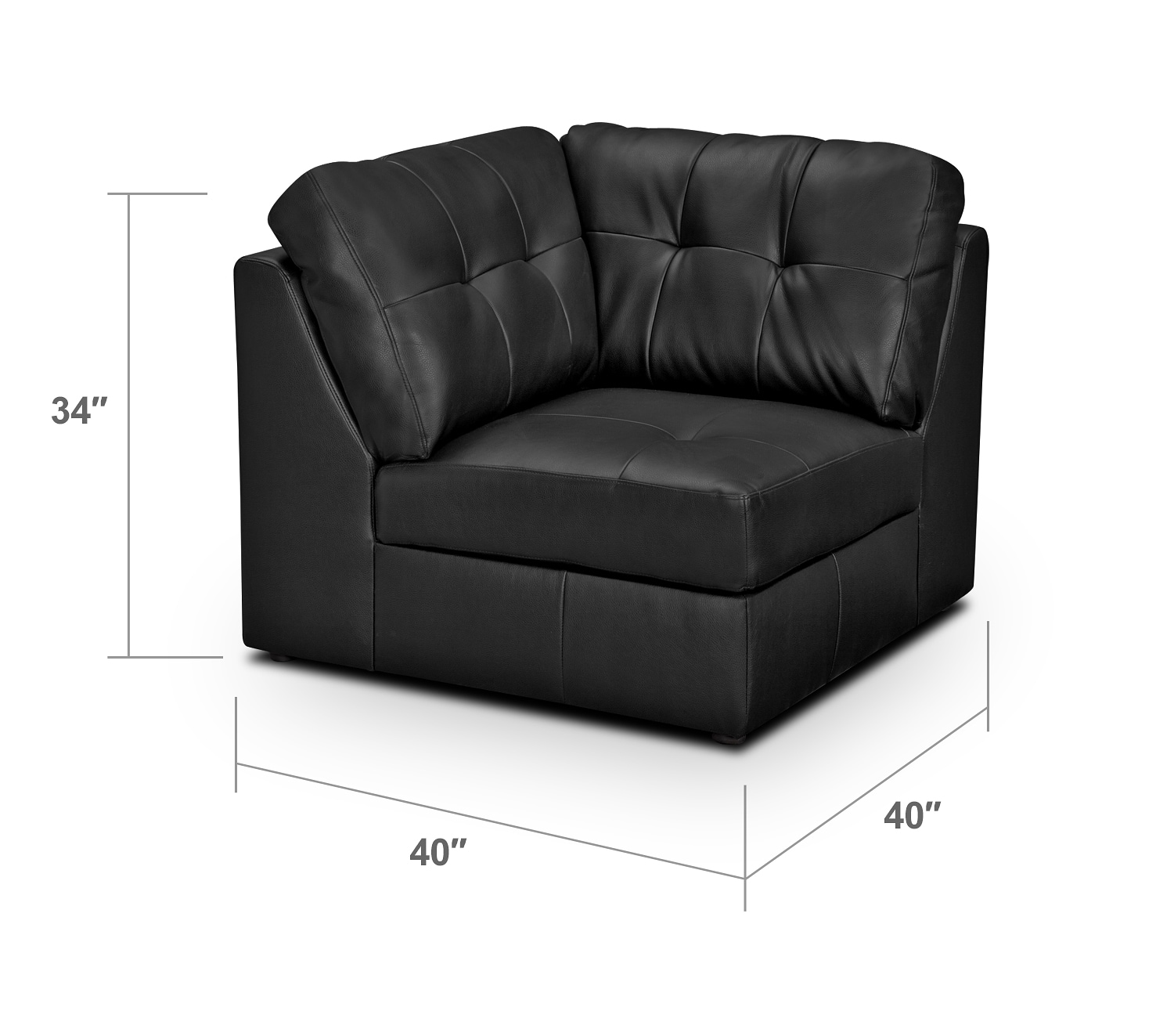 Living Room Furniture - Largo Black Wedge