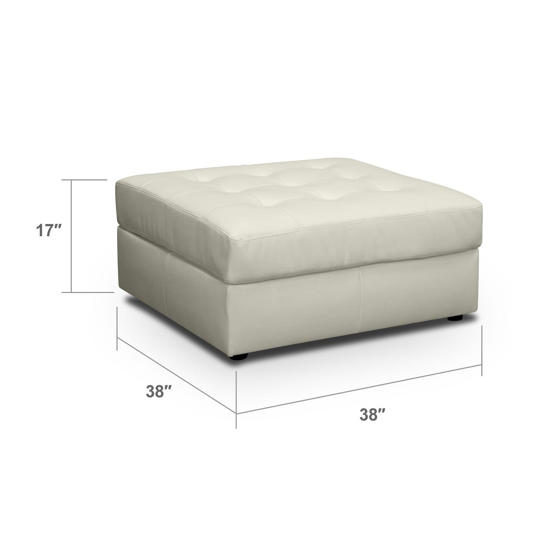 Living Room Furniture - Largo White Ottoman