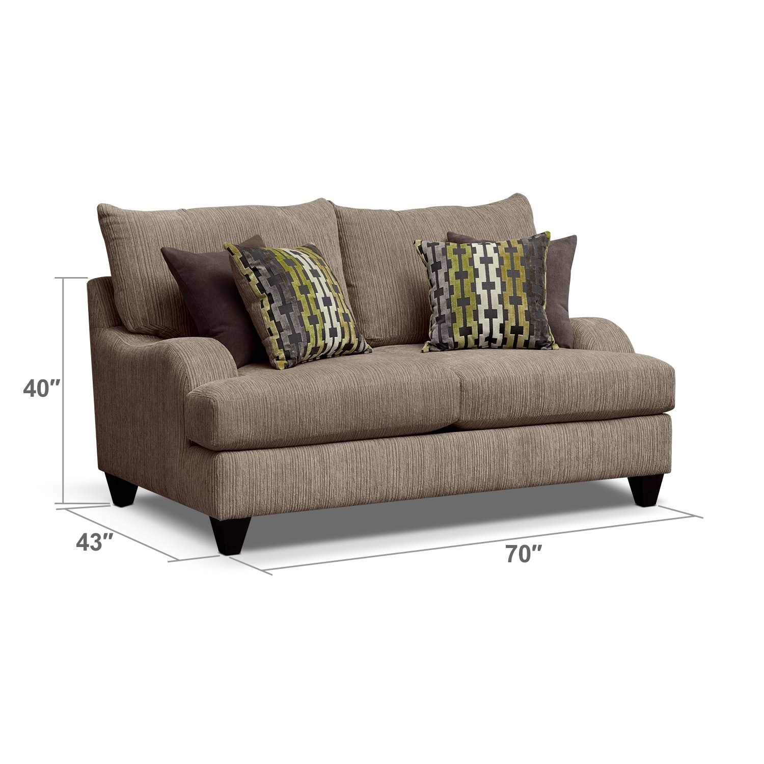 Living Room Furniture - Hollister Loveseat