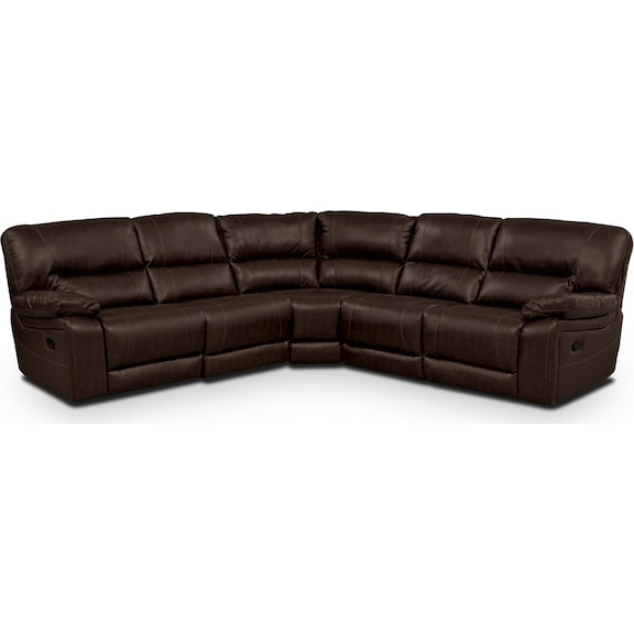Living Room Furniture - Durango Godiva 3 Pc. Reclining Sectional