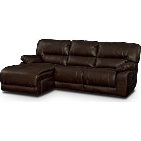 Living Room Furniture - Durango Godiva 2 Pc. Reclining Sectional (Reverse)