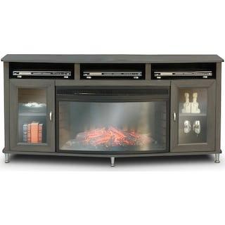 Kitchener Fireplace Credenza - Grey