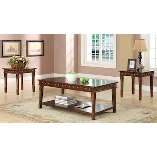 Ludlow 3-Piece Table Set - Walnut