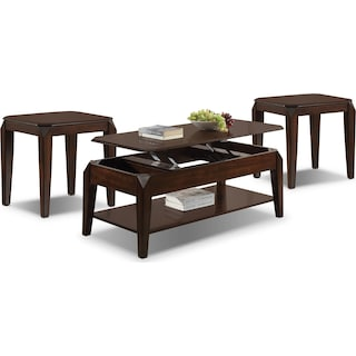 Verdon Lift-Top Coffee Table & Two End Tables Set