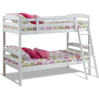 Houlten White Twin Bunk Bed - White