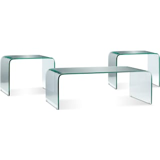 Atria 3 Pc. Table Package - Clear