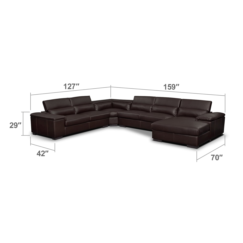 Living Room Furniture - Carmel Godiva 4 Pc. Sectional