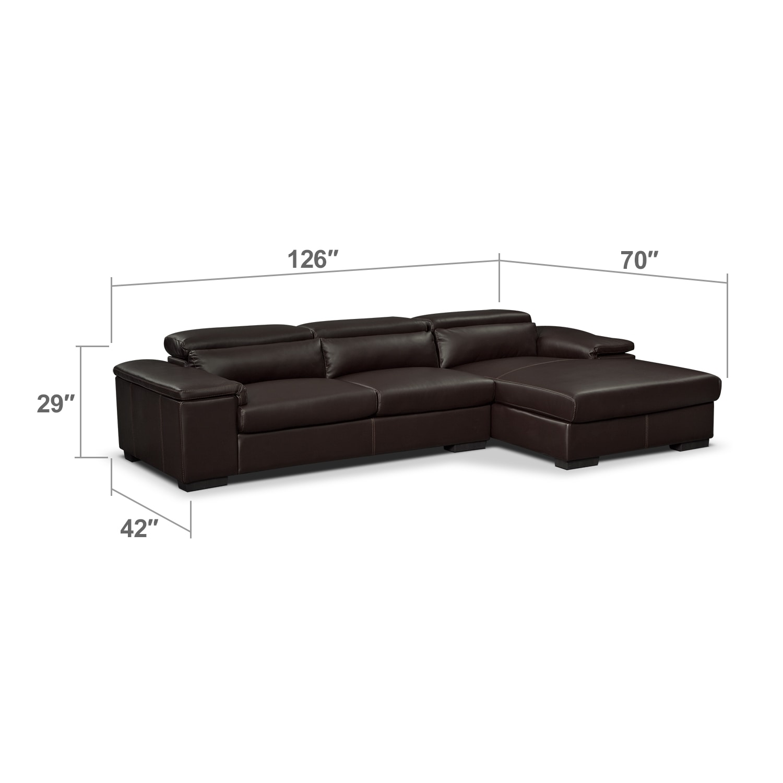Living Room Furniture - Carmel Godiva 2 Pc. Sectional