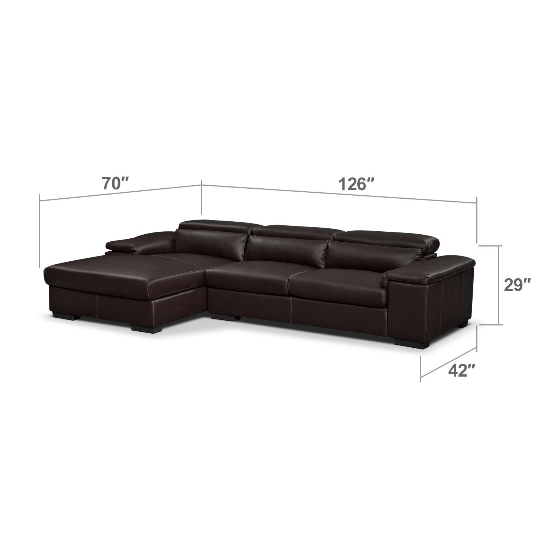 Living Room Furniture - Carmel Godiva 2 Pc. Sectional (Reverse)