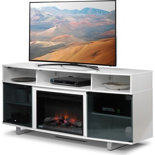 Sorenson Fireplace TV Stand - White