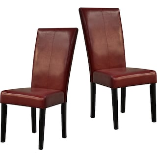 Wigan Red 2-Pack Dining Chairs