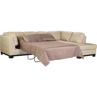 Ossett Right-Facing Chaise Sleeper Sectional - Black