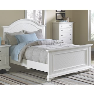 Casey Off White King Bed