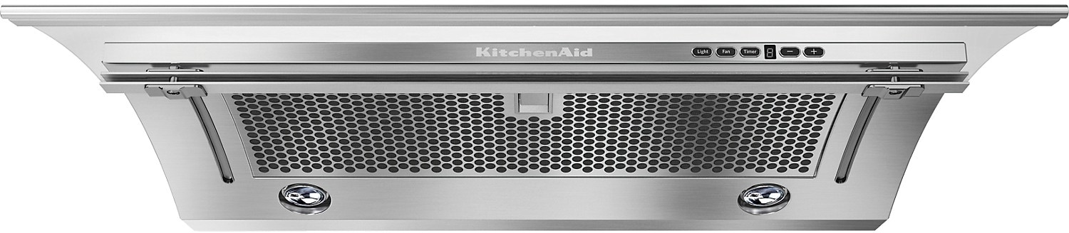 """Cooking Products - KitchenAid 30"""" Slide-Out Ventilation Hood – Stainless Steel"""