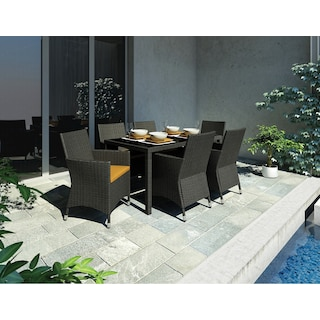Park Terrace 7 Piece Patio Dining Set with Arm Chairs